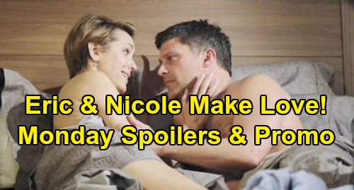 Days of Our Lives Spoilers: Monday, September 16 – Kate in Coma After Vivian's Smothering – Nicole and Eric Make Love