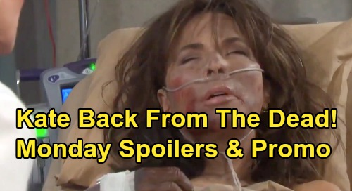 Days of Our Lives Spoilers: Monday, September 9 – Kate Rises from the Dead – Stefan Reels Over Vivian Bomb – Ciara Attacks Gabi