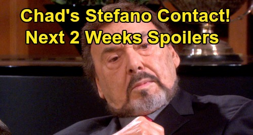 Days of Our Lives Spoilers Next 2 Weeks: Stefano DiMera Contact With Chad Revealed – Ciara Dumps Ben - Sonny's New Man