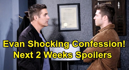 Days of Our Lives Spoilers Next 2 Weeks: Evan's Stunning Confession – Jennifer & Princess Gina Face Off - Nicole Overhears Xander's Secret