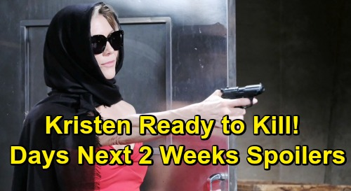 Days of Our Lives Spoilers Next 2 Weeks: Kristen Removes Mask to Shoot Ted and Kate - Arrested Xander Released, Battles Gabi