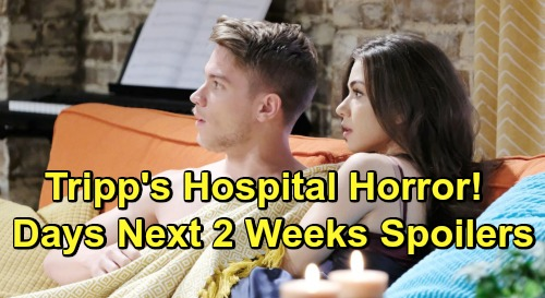 Days of Our Lives Spoilers Next 2 Weeks: Tripp's Hospital Horror - Belle Returns for Claire's Breakdown – Xander's Gift Blunder