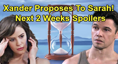 Days of Our Lives Spoilers Next 2 Weeks: Xander Asks Sarah to Marry – Chad's Stabbing Attack On Kate – Evan Keeps Kidnapped David