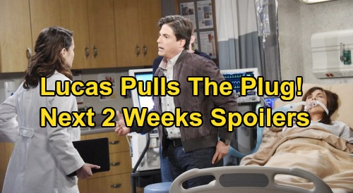 Days of Our Lives Spoilers: Next 2 Weeks – Lucas Pulls Plug on Kate, Heart Donation Twist – Sarah Keeps Baby, Kristen Steals It