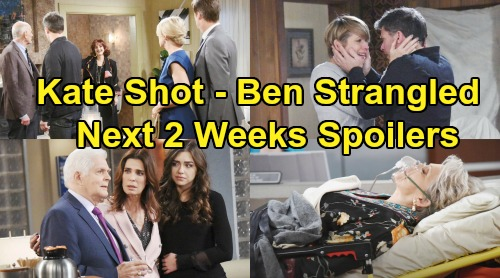 Days of Our Lives Spoilers Next 2 Weeks: Brady Stops Ben's Murder – Kate's Gunshot Wound – Hope Fears She'll Never Love Again
