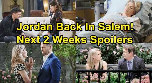 Days of Our Lives Spoilers Next 2 Weeks: Jordan Back from Bayview – Sarah Falls For Xander – Desperate Anna Begs Kristen