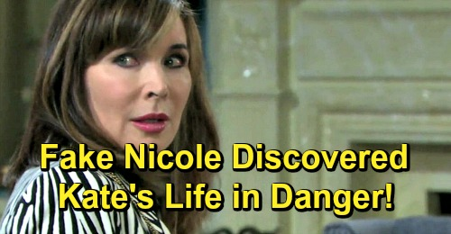 Days of Our Lives Spoilers: Kate Threatens Kristen's Evil Plan, Fake Nicole Secret at Risk – Kristen's Determined and Deadly