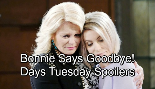 Days of Our Lives Spoilers: Tuesday, November 6 – Sami Panics Over Missing EJ – Bonnie's Farewell – Belle and John Make Amends