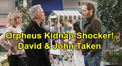 Days of Our Lives Spoilers: Orpheus Double Kidnap Horror Story – Abducts David and John, May Sweeps Mayhem