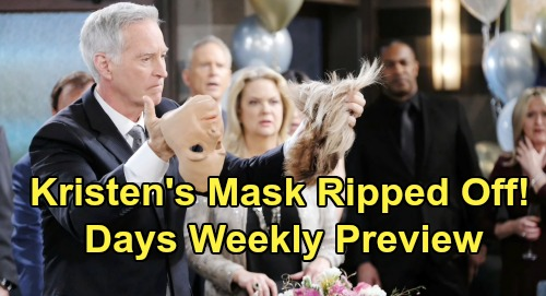 Days of Our Lives Spoilers: Week of August 19 Preview – John Rips Off Kristen's Mask – Kate Attacks Susan – Stabi's Hostage Hookup