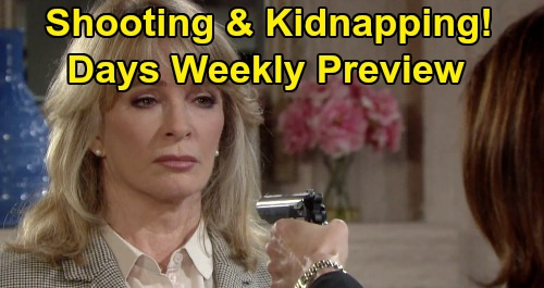 Days of Our Lives Spoilers: Week of January 27 Preview - Marlena Held At Gunpoint - John Kidnapped and Chained - Stefano Shot