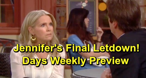 Days of Our Lives Spoilers: Week of July 15 Preview – Jennifer's Crushing Heartbreak - Jack Takes Memory Serum But Stays With Eve