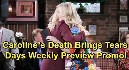 Days of Our Lives Spoilers: Week of June 17 Preview - Caroline's Death Brings Tears and Tribute - Victor Hit Hard By Loss