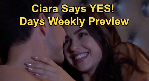 Days of Our Lives Spoilers: Week of March 30 Preview - Steve & Kayla Reunite - Ciara Says 'Yes' to Ben's Marriage Proposal
