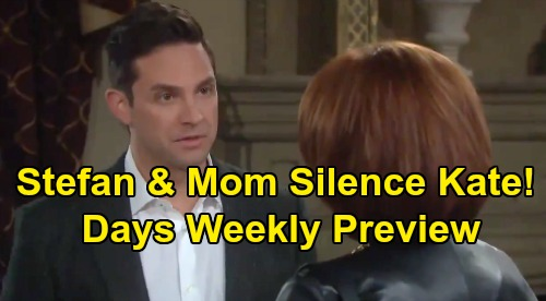 Days of Our Lives Spoilers: Week of September 9 Preview - Kate Survives Shooting - Vivian & Stefan Scheme To Silence Her