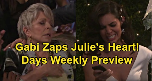 Days of Our Lives Spoilers: Preview Week of February 17 - Ciara Knocks Rafe Out With Baseball Bat - Julie Collapses As Gabi Actives App