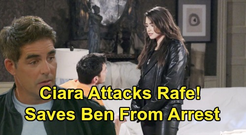 Days of Our Lives Spoilers: Ciara Attacks Rafe to Stop Ben's Arrest – Desperate to Save True Love from Execution