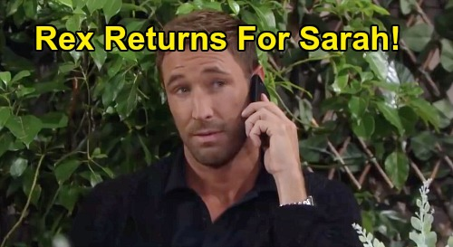 Days of Our Lives Spoilers: Rex Returns - Saves Sarah After Xander's Baby Swap Deception Reveal?
