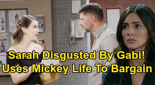 Days of Our Lives Spoilers: Sarah Unleashes Fury on Selfish Gabi – Disgusted Over Mickey Bargaining Chip, Fierce Moms Face Off