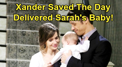 Days of Our Lives Spoilers: Xander to the Rescue, Delivers Sarah's Baby in Time Jump Flashbacks - Tragedy Revealed