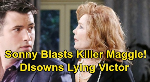 Days of Our Lives Spoilers: Car Crash Truth Infuriates Sonny – Killer Maggie Put on Blast, Lying Victor Disowned Over Will