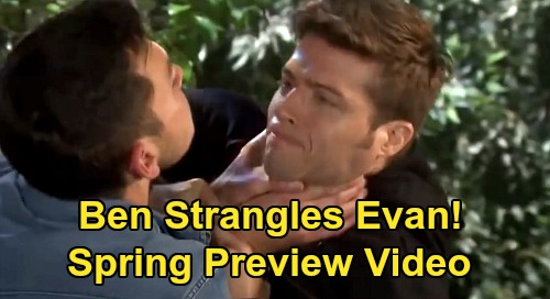 Days of Our Lives Spoilers: Spring Preview Video - Ben Strangles Evan - Gabi Sees Stefan's Reflection - Stefano Loses an Eye