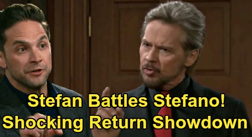 Days of Our Lives Spoilers: Stefan DiMera's Fierce Fight With Stefano - Clash Over Gabi After Brandon Barash DOOL Return