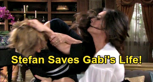 Days of Our Lives Spoilers: Stefan Saves Gabi's Life – Suspicious Wife Questions Hero's Motives