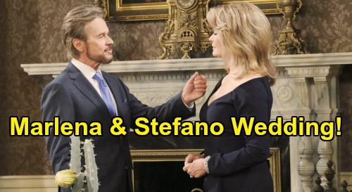 Days of Our Lives Spoilers: Stefano & Marlena's Wedding – Queen of the Night Becomes DiMera's Bride