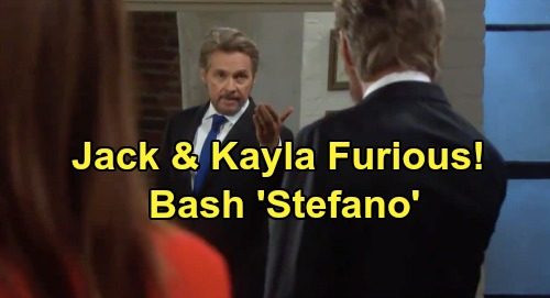 Days of Our Lives Spoilers: Jack and Kayla Unleash Fury on 'Stefano' – Having Steve's Face Brings Bashing and Backlash