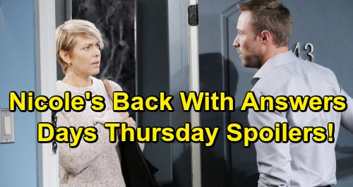 Days of Our Lives Spoilers: Thursday, April 25 – Nicole's Big Comeback, Rex Stunned – Chloe and Stefan's First Date