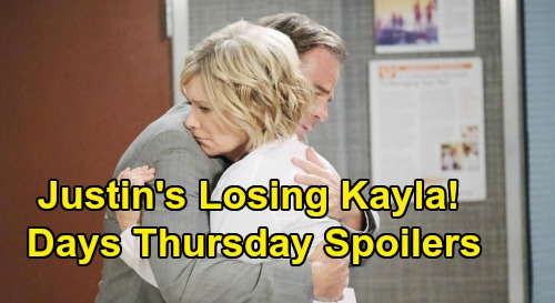 Days of Our Lives Spoilers: Thursday, April 9 – Eric & Nicole Stop Sarah Before Wedding – Justin Fears Losing Kayla