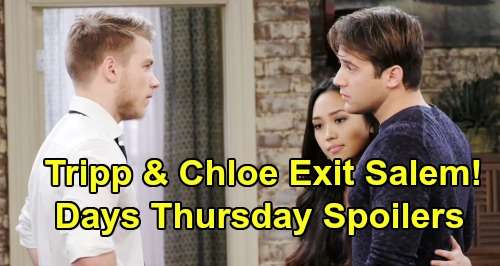 Days of Our Lives Spoilers: Thursday, August 29 – Chloe & Tripp Exit Salem – Xander and Sarah Face Off – Eric's Desperate Plea