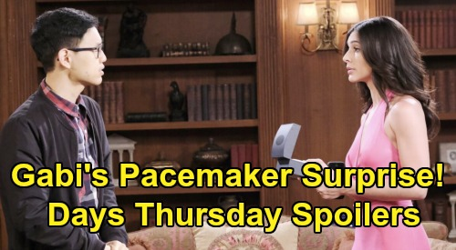 Days of Our Lives Spoilers: Thursday, February 13 – Shawn & Princess Gina Face Off – Gabi's Secret Pacemaker Meeting - Lani's Bad News