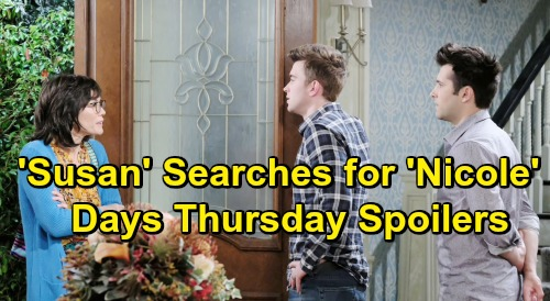 Days of Our Lives Spoilers: Thursday, July 18 - 'Susan' Searches For Nicole Mask - Hope and Ted Kiss - Jen Moves On From Jack