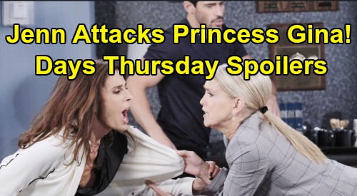 Days of Our Lives Spoilers: Thursday, March 5 – Stefano Sparks Disaster – Jennifer Attacks Princess Gina – Chad's Lost In Mind Control