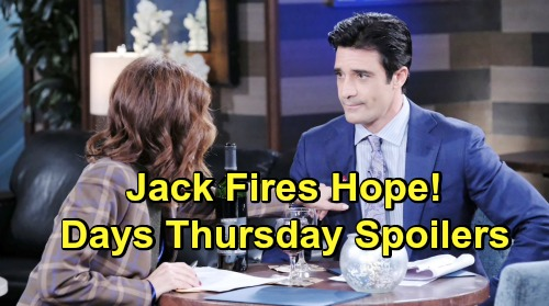 Days of Our Lives Spoilers: Thursday, May 16 – Haley Goes on the Run with JJ – Hope Fired After Jack's Victory