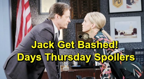 Days of Our Lives Spoilers: Thursday, May 30 – Jennifer Attacks Jack, Tripp Escapes – Marlena Hypnotizes Ben for Cabin Fire Clues