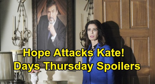 Days of Our Lives Spoilers: Thursday, October 17 – Hope's Bizarre Attack on Kate – Julie Learns She Has Stefan's Heart, Summons Gabi