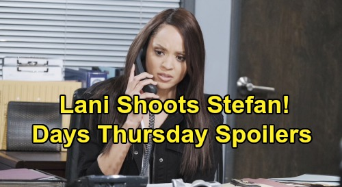 Days of Our Lives Spoilers: Thursday, October 3 - Lani Shoots Stefan - Ciara & Ben Accuse Jordan of Attempted Murder