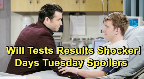 Days of Our Lives Spoilers: Tuesday, April 2 – Rex Baffled by Will Test Results – Kate's Big Offer – Sarah's News Worries Maggie