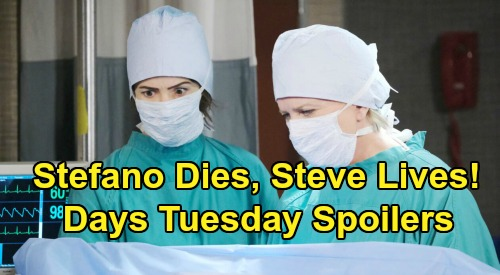 Days of Our Lives Spoilers: Tuesday, April 7 – Eric Delays Baby Confession – Stefano Ready to Die – Kayla Saves Steve