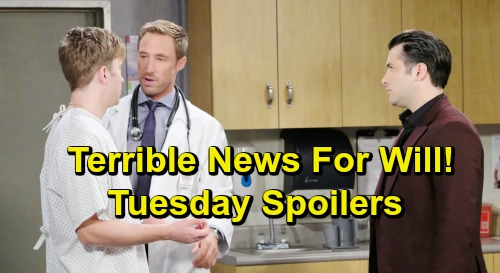 Days of Our Lives Spoilers: Tuesday, April 9 – Sarah and Rex Discover Will's Brain Tumor – Claire's Secret Plot