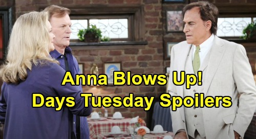 Days of Our Lives Spoilers: Tuesday, August 13 – Xander's Heart Aches for Sarah – Nicole's Crazy Outburst – Tony Faces Anna's Fury
