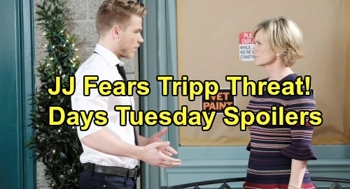 Days of Our Lives Spoilers: Tuesday, August 20 – Kristen Tackles Sonny Crisis – JJ Fears Tripp Threat – Marlena Suspects Nicole