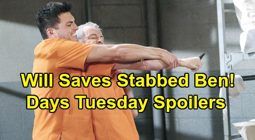Days of Our Lives Spoilers: Tuesday, December 3 – Will Frantic After Ben's Stabbing – Nicole Begs Forgiveness – Ciara's Discovery