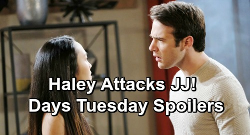 Days of Our Lives Spoilers: Tuesday, February 26 – Gabi and Brady Plot Against Stefan, Chloe's in Love – Haley Explodes at JJ