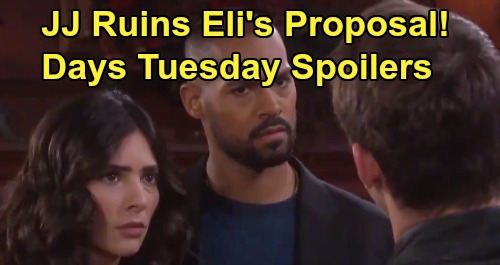 Days of Our Lives Spoilers: Tuesday, January 14 – JJ Derails Eli's Proposal to Gabi - Abigail Suspects 'Steve' & Kristen