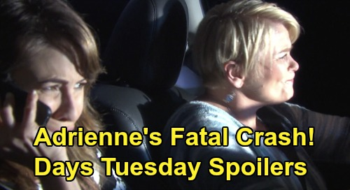 Days of Our Lives Spoilers: Tuesday, January 21 – Adrienne's Horrific Crash – Summer's Unfortunate Visit – Anna's Shocking Betrayal