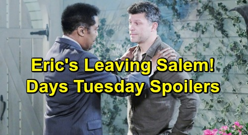 Days of Our Lives Spoilers: Tuesday, July 16 - Eric Considers Leaving Town - Xander Swipes Kristen's Mask - Brady Blasts Eve
